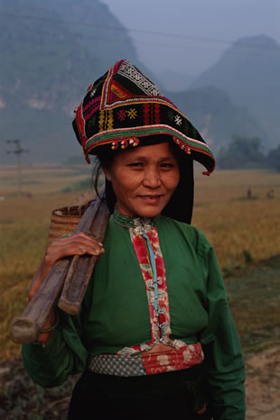 Woman working in the fields, Northern Vietnam